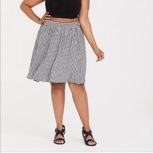 Torrid Gingham Skater Skirt Size -2X